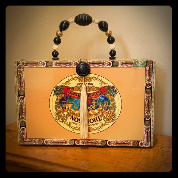 Vintage Handbags - Handmade cigar box purse